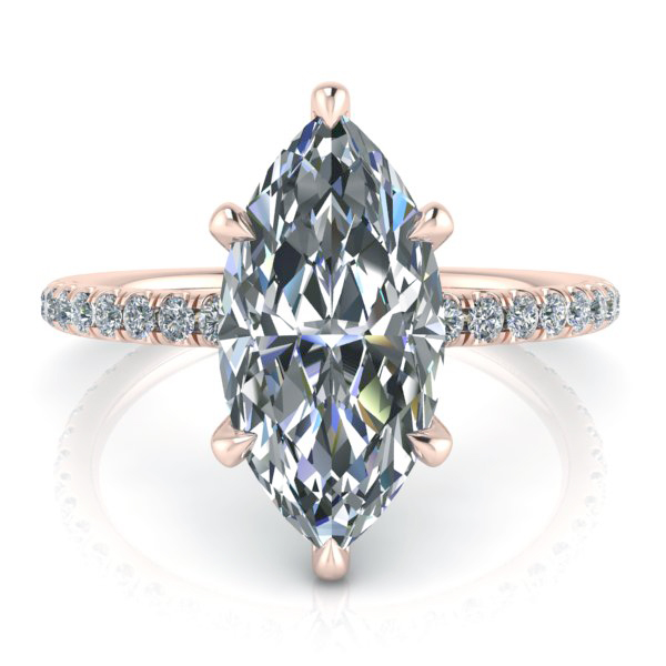 Rose Gold Moissanite Engagement Rings Gerry The Jeweler